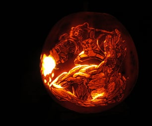 How to Carve Rocket and Groot