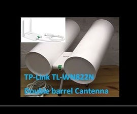 TP Link TL WN822N Double Barrel Cantenna