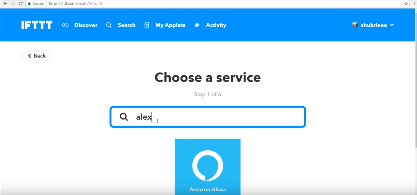 Picture of Select the Service