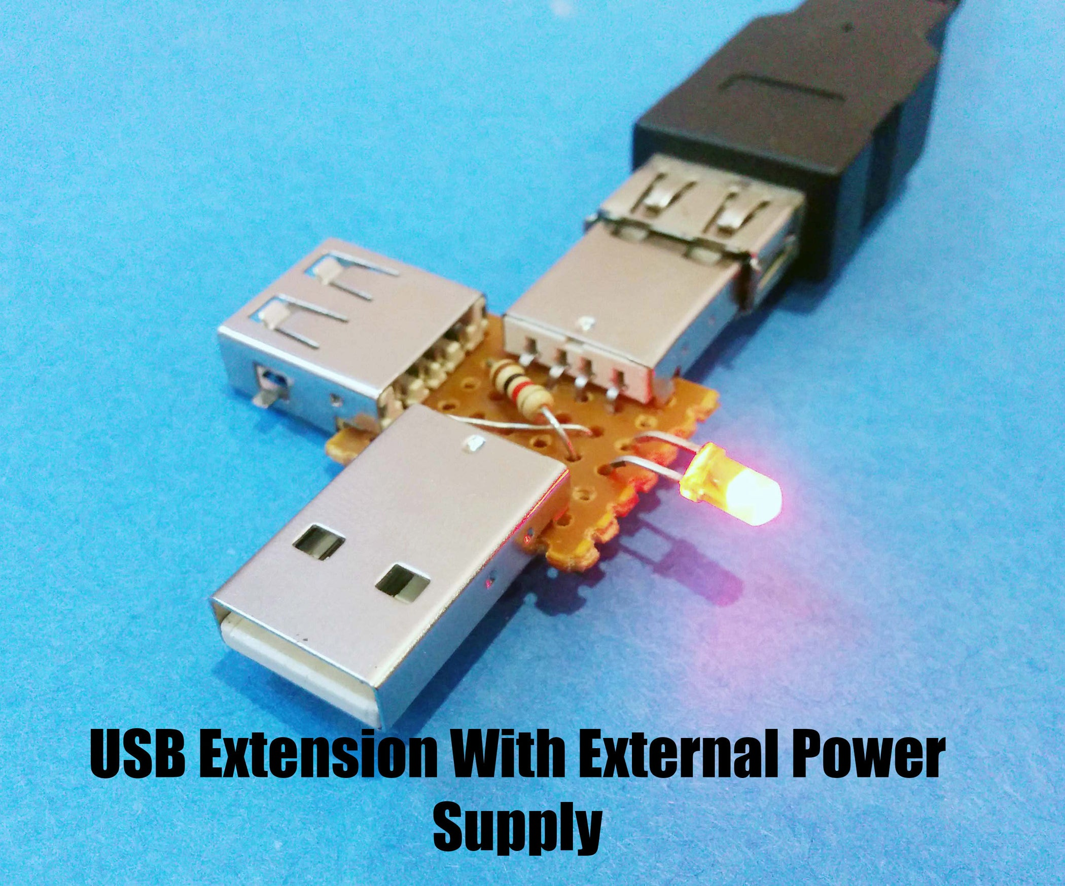 USB Extension With External Power Supply : 4 Steps (with Pictures)