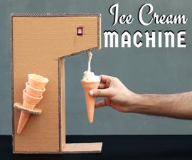 Ice-cream Vending Machine From Paper Cardboard