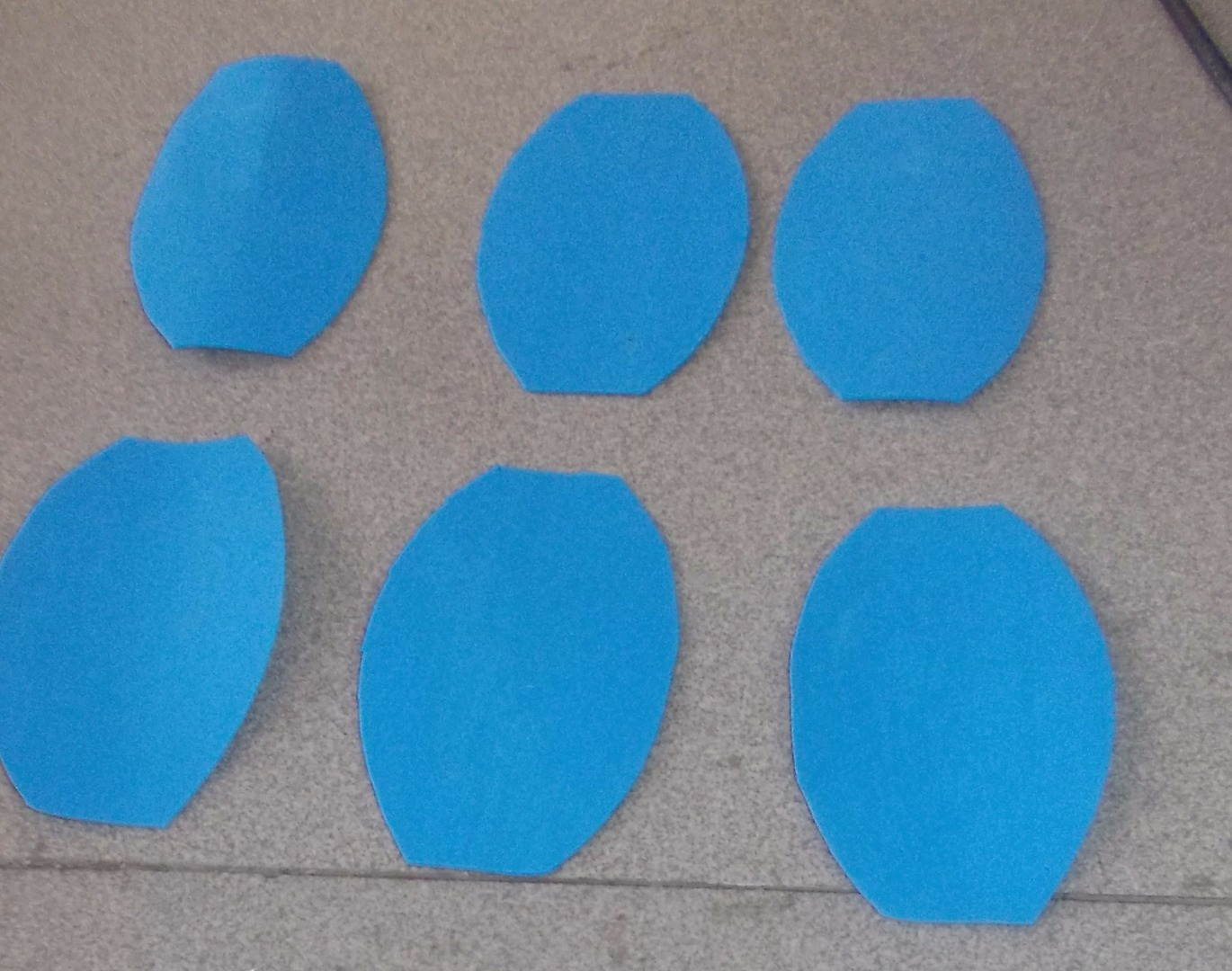 Picture of Cut 6 Petals on the Foam
