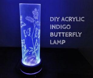 DIY ACRYLIC INDIGO BUTTERFLY LAMP.