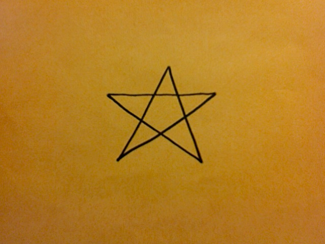 Picture of How to Draw a 5-point Star.