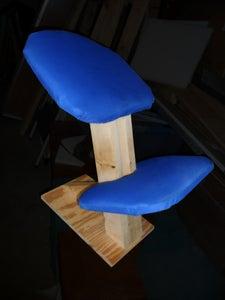 Ergonomic Kneeling Chair From Scrap