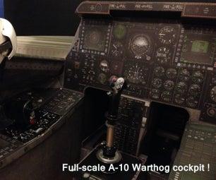 A-10 Jet Aircraft Cardboard Cockpit Replica