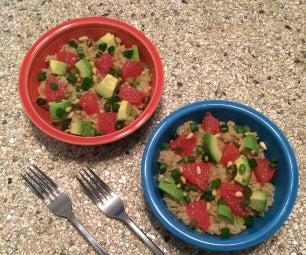 Warm Quinoa Avocado Citrus Salad