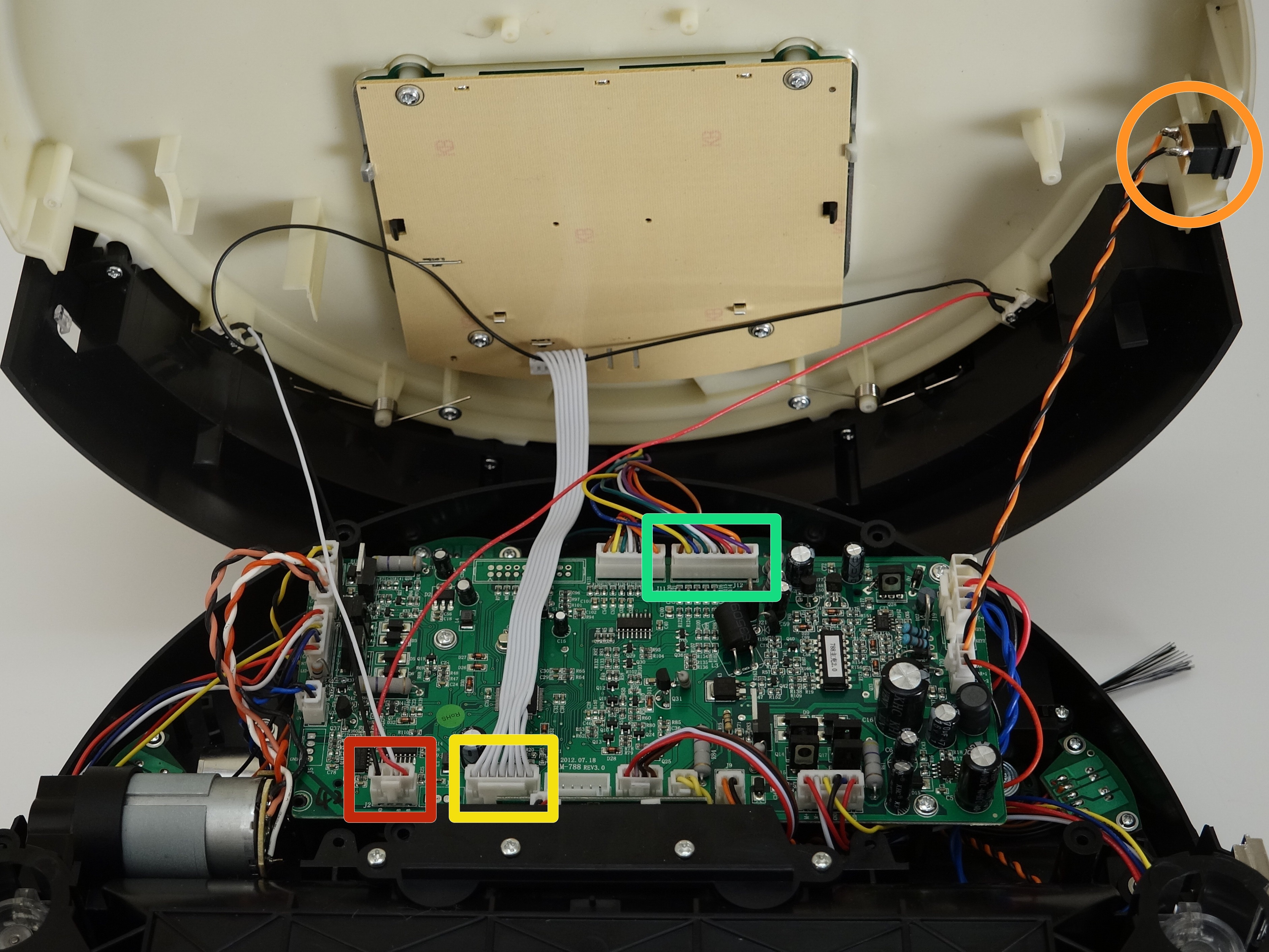 Picture of Reconnect the Cover's Circuit Plugs to the Main Board