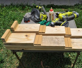COMPACT CAR RAMPS FROM SCROUNGED WOOD