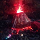 Aquarium Volcano Ornament
