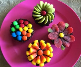 Colourful Chocolate Cupcakes