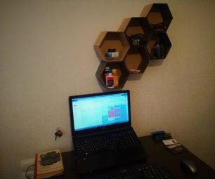 Cardboard Honeycomb Organizer Shelves