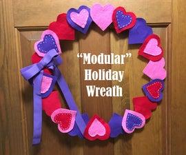 """Modular"" Holiday Wreath"