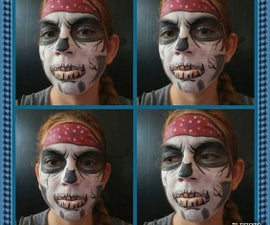 Pirate Skull Face Paint