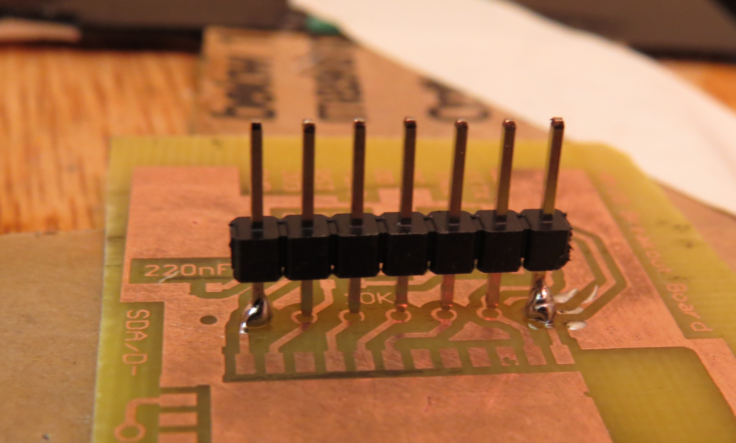Picture of Solder the Last Pin