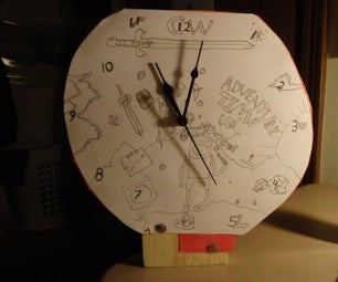 Adventure Time Themed Clock