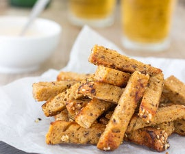 Dry-Fried Garlic Sourdough Soldiers