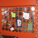 Button Face Quirky Memo Board/ Maganet Collection Display/ Valance + Extra Credit