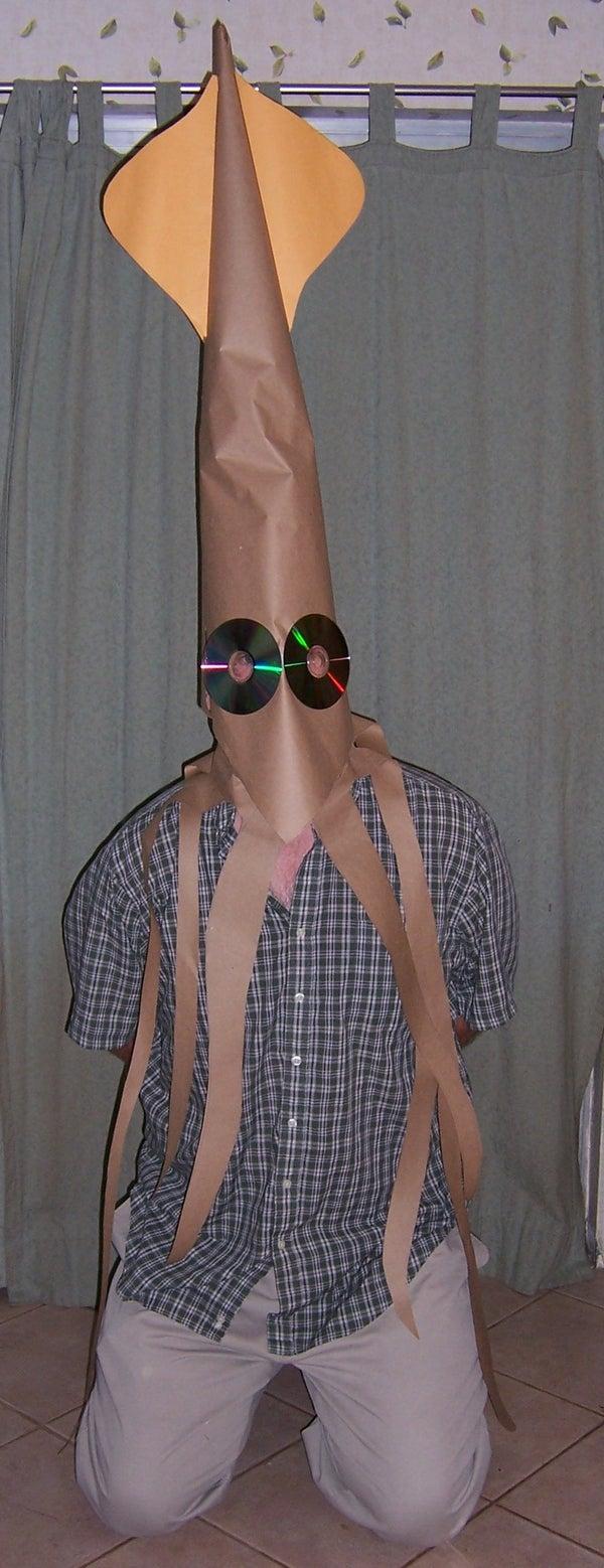 Super Quick Last Minute Squid Costume