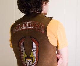 Screenprint a Leather Warriors Vest