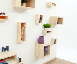 Make Wall Mounted Box Shelves