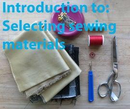Sewing Materials Selection