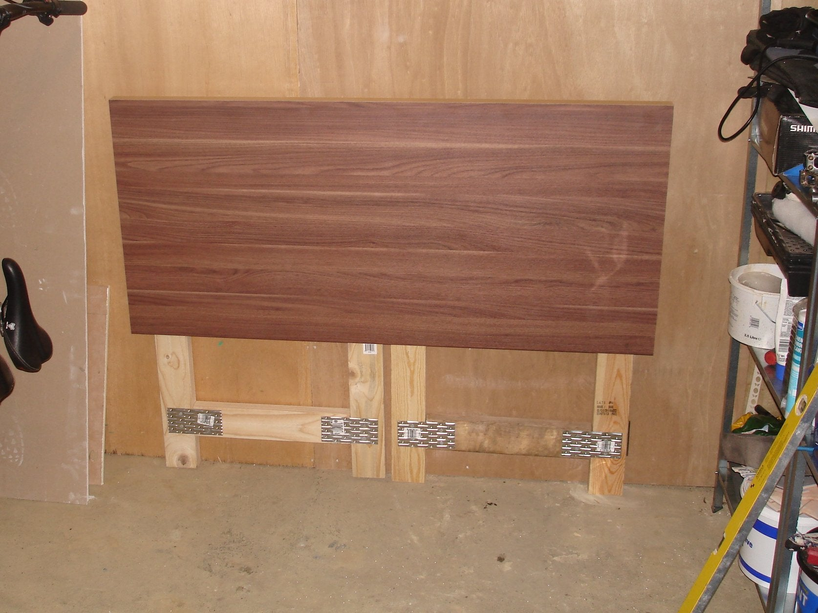 Make A Cheap Fold Down Workbench 4 Steps With Pictures Instructables
