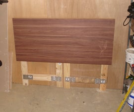 Make a cheap fold-down workbench