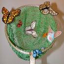 Beaded butterfly net