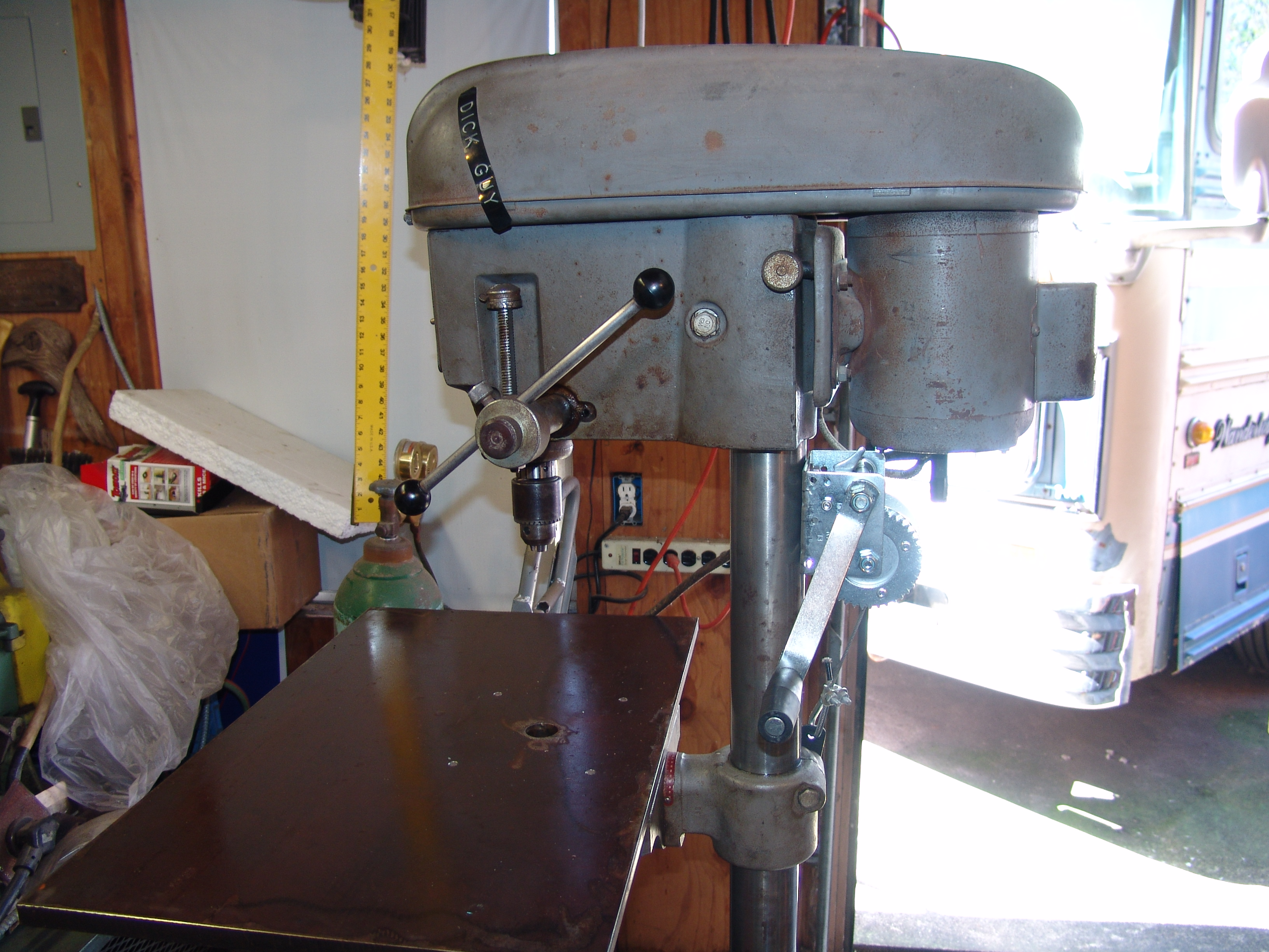 Picture of Drill Press Table Enlargement & Drill Press Table Winch