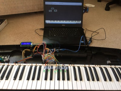 Arduino MIDI Keyboard With Song Teaching LEDs