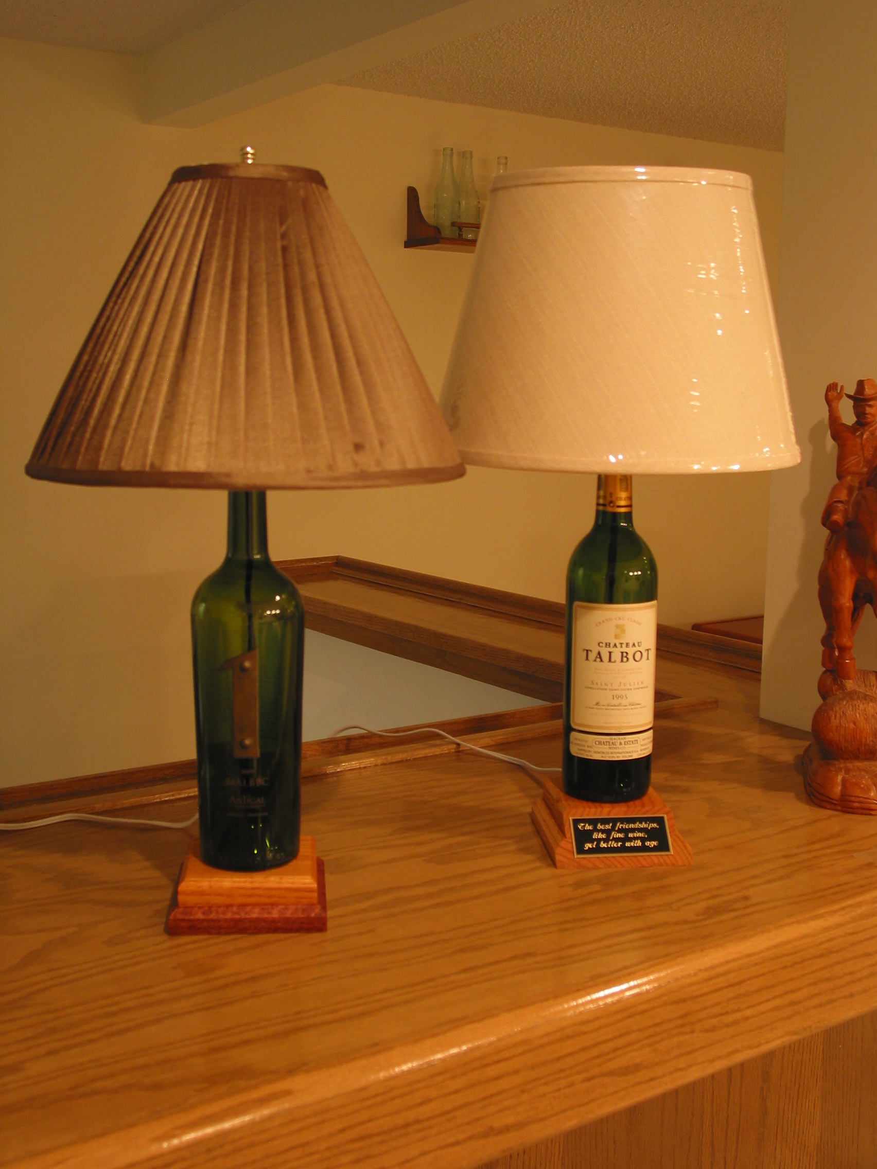 Picture of 4 Easy Steps to Creating a Unique Wine Bottle Lamp