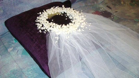 CANDLE RING BRIDAL VEIL and Supply List.