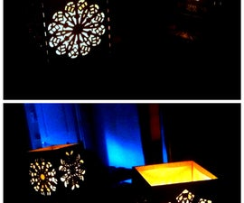 Christmas Lamps with Laser-cut panels