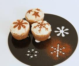 Cupcake Stencil