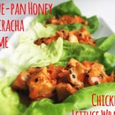 One-Pan Honey Sriracha Lime Chicken Lettuce Wraps