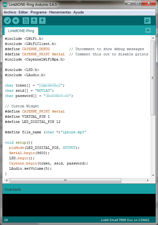Picture of Upload Sketch for LinkIt ONE