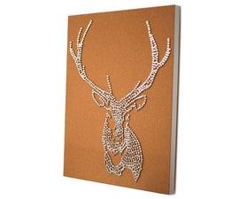 Stag Deer Head Drawing Pin Art