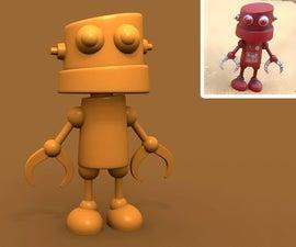 Cute 3D Printed Robot Kit
