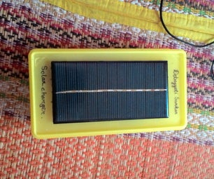 Solar and 9V Battery Powered Mobile Charger
