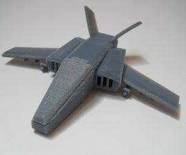 Make a concept fighter jet using 123D Design