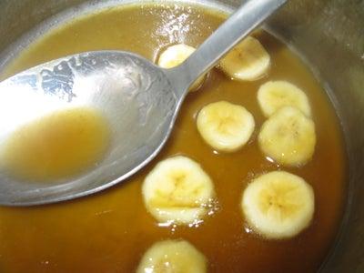 Making the Sauce, Adding Bananas