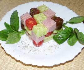 Rubik's Cube Salad (Healthy Snack for Geeks) :-)