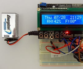 Day of the Week, Calendar, Time, Humidity & Temperature W Battery Saver