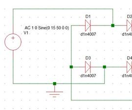 Full Wave Rectifier Circuit Through Bridge Rectification