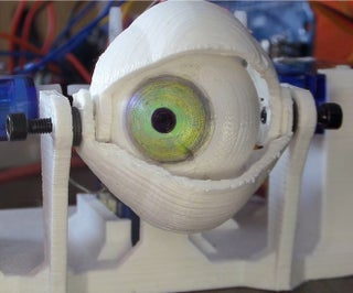 3D Printed Animatronic Eye Mechanism on the Cheap