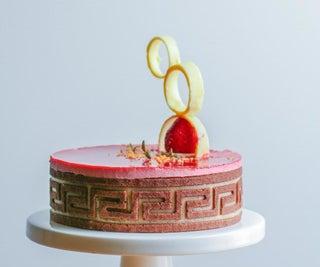 How to Make Cake Garnish With Tempered Chocolate