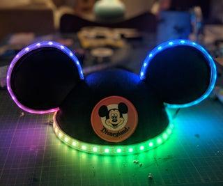 Custom Glowing Multicolored Mickey Ears