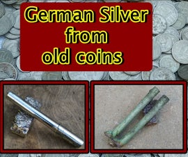 German Silver From Coins. Melting Nickel Silver and Casting Bars