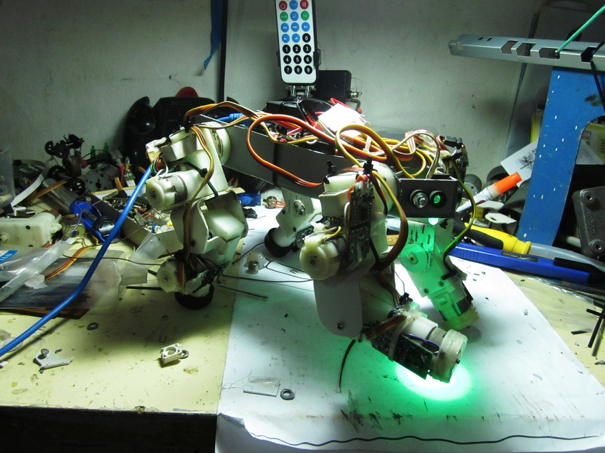 Picture of More Robot Made From Same Material Pvc Water Pipe and Scraps